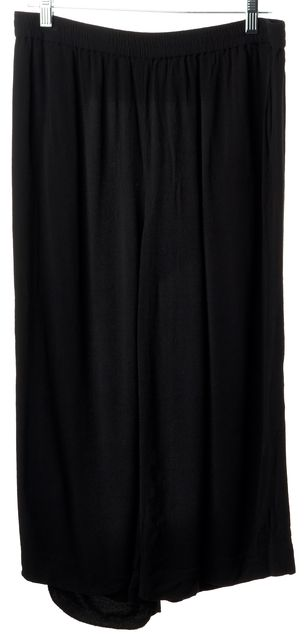 KATE SPADE Black Casual Relaxed Fit Wide Leg Cropped Gaucho Capri Pants