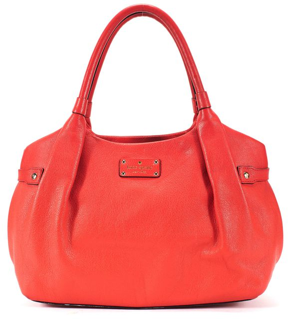 KATE SPADE Red Leather Medium Top Handle Shoulder Tote Bag