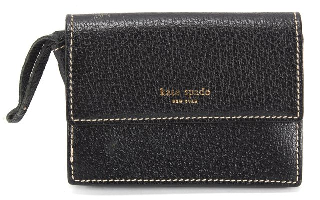 KATE SPADE Black Pebbled Leather Card Case