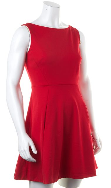 KATE SPADE Red Cut Out Cocktail Fit & Flare Dress