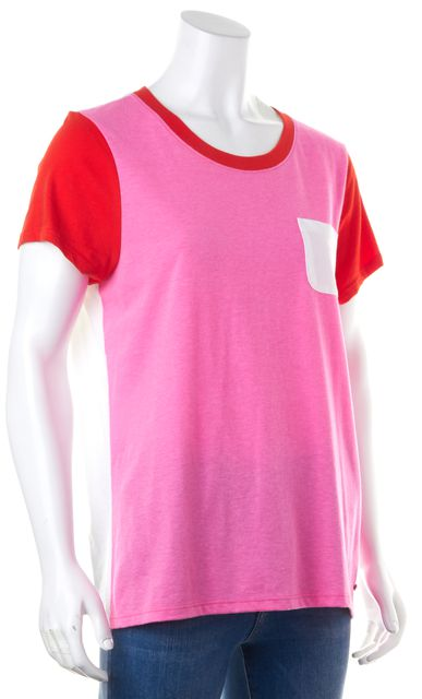 KATE SPADE Casual Pink White Red T-Shirt Top
