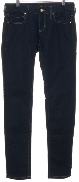 KATE SPADE Blue Stretch Cotton Dark Wash Mid-Rise Skinny Jeans