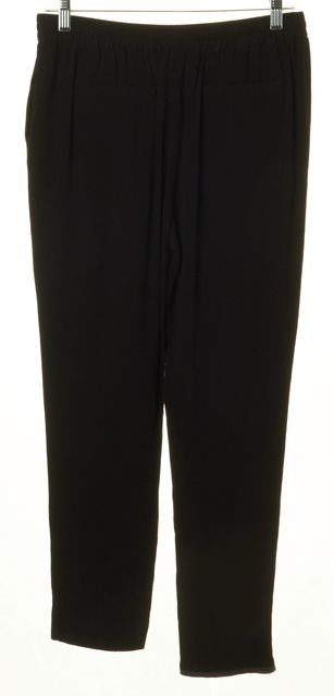 KATE SPADE Black Pleated Bow Front Jogger Pants