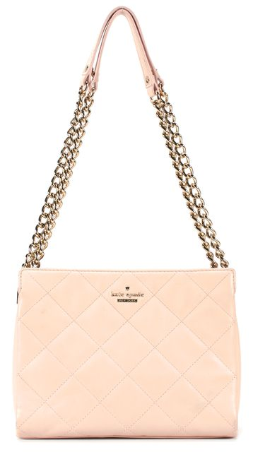 KATE SPADE Pink Quilted Leather Chain Strap Convertible Crossbody Shoulder Bag