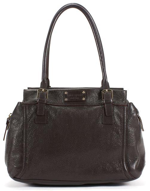 KATE SPADE Brown Pebbled Grain Leather Top Handle Shoulder Bag