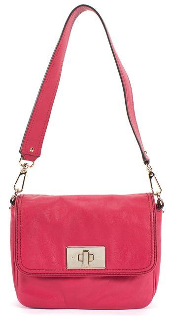 KATE SPADE Pink Leather Silver Hardware Flap Top Handle Shoulder Bag