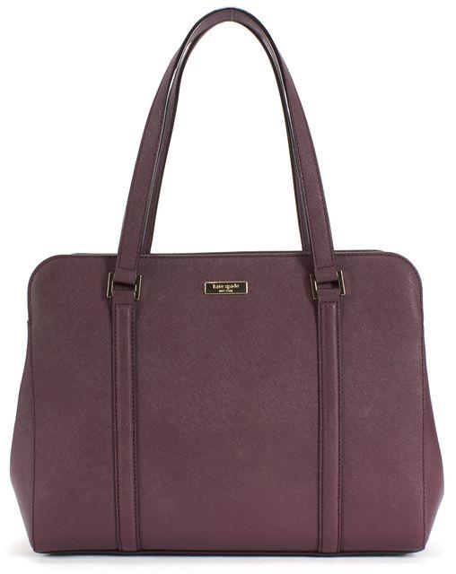 KATE SPADE Purple Saffiano Leather Tote Shoulder Bag