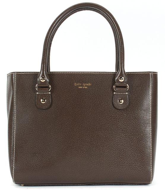 KATE SPADE Brown Pebbled Leather Gold Hardware Shoulder Bag