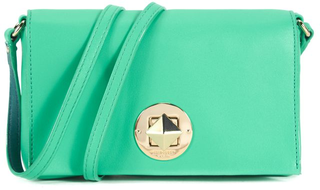 KATE SPADE Green Leather Gold Hardware Brightbery Sally Crossbody Bag