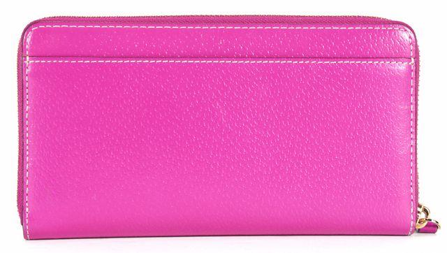KATE SPADE Pink Pebbled Leather Gold Hardware Zip Around Wallet