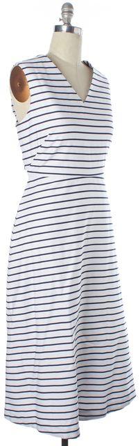 KATE SPADE White Blue Striped Dress