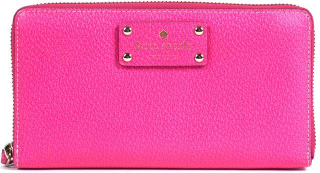 KATE SPADE Pink Leather Zip Around Wallet
