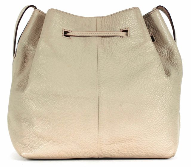 KATE SPADE Gray Pebbled Leather Tassel Trim Crossbody Bucket Shoulder Bag