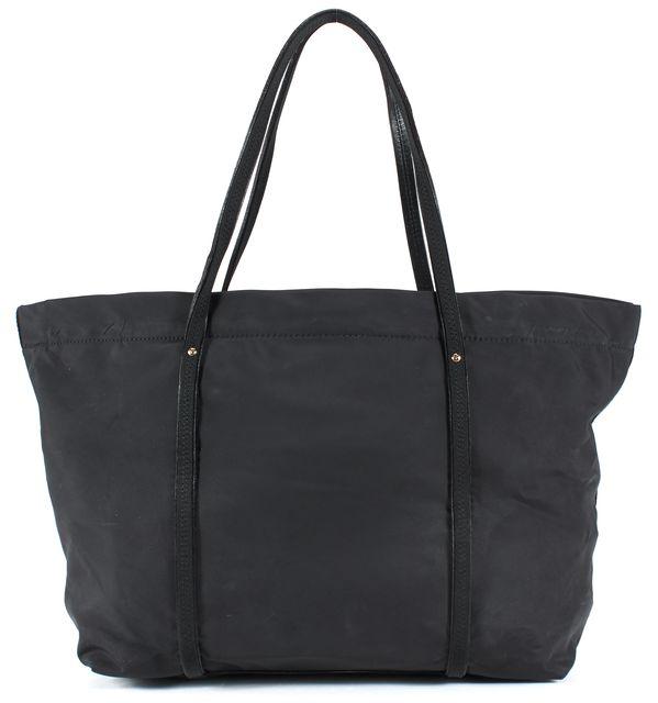 KATE SPADE Black Nylon Leather Trim Large Tote Bag