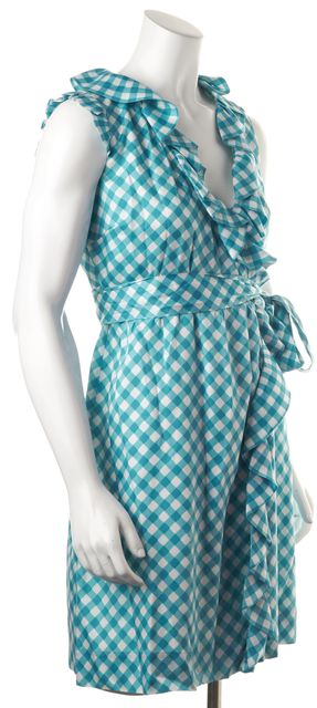 KATE SPADE Blue Plaids & Checks Sundress