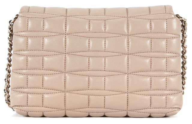 KATE SPADE Beige Quilted Leather Chain Strap Crossbody