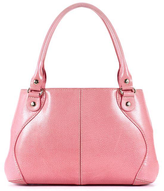 KATE SPADE Pink Textured Leather Gold-Tone Hardware Shoulder Bag