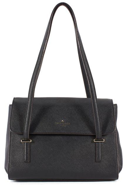 KATE SPADE Black Saffiano Leather Gold Hardware Shoulder Bag