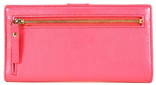 KATE SPADE Pink Pebbled Leather Bi-Fold Wallet