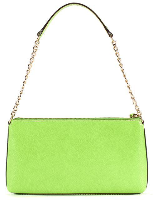 KATE SPADE Lime Green Leather Chain Strap Shoulder Bag