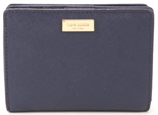 KATE SPADE Navy Blue Saffiano Leather Bifold Wallet