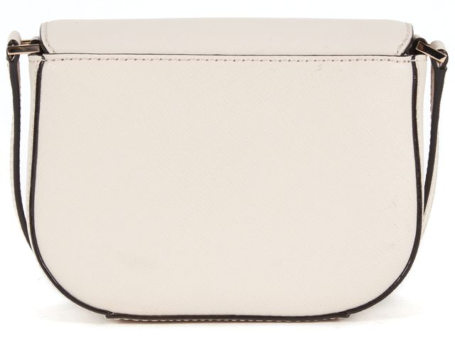 KATE SPADE Ivory Saffiano Leather Flap Adjustable Strap Crossbody