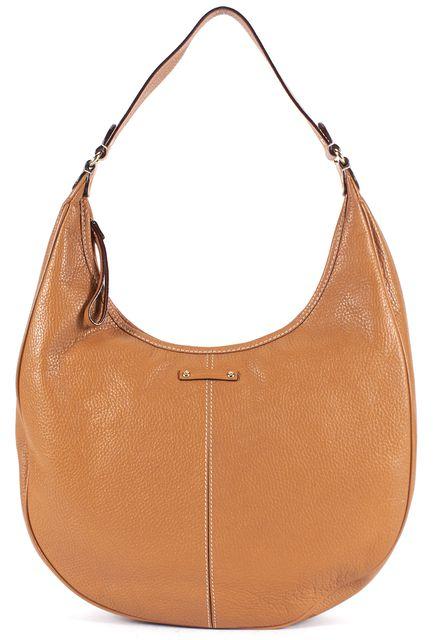 KATE SPADE Tan Brown Pebbled Leather Hobo Bag
