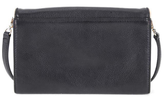 KATE SPADE Black Ivory Pebbled Leather Envelope Crossbody