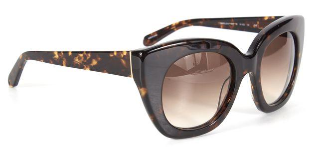 KATE SPADE Brown Black Tortoiseshell Acetate Narelle Cat Eye Sunglasses