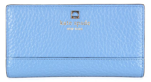 KATE SPADE Sky Blue Pebbled Leather Wallet