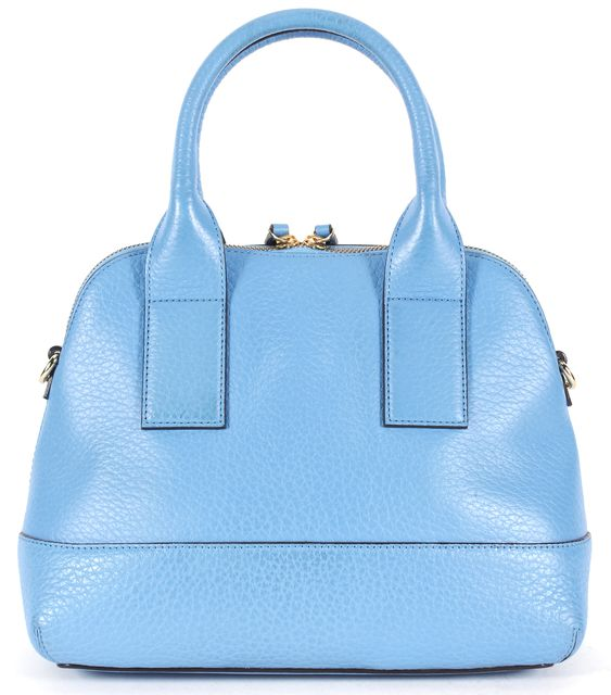 KATE SPADE Blue Pebbled Grain Leather Small Top Handle Bag
