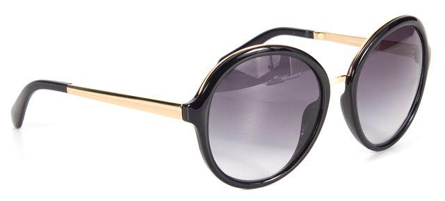 KATE SPADE Black Acetate Frame Gradient Lens Annabeth Round Sunglasses
