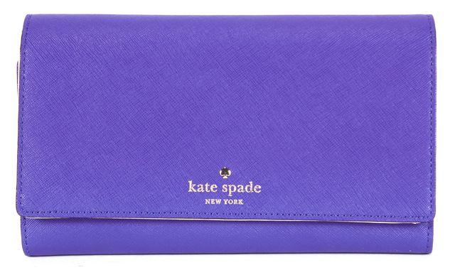 KATE SPADE Purple Genuine Leather Clutch