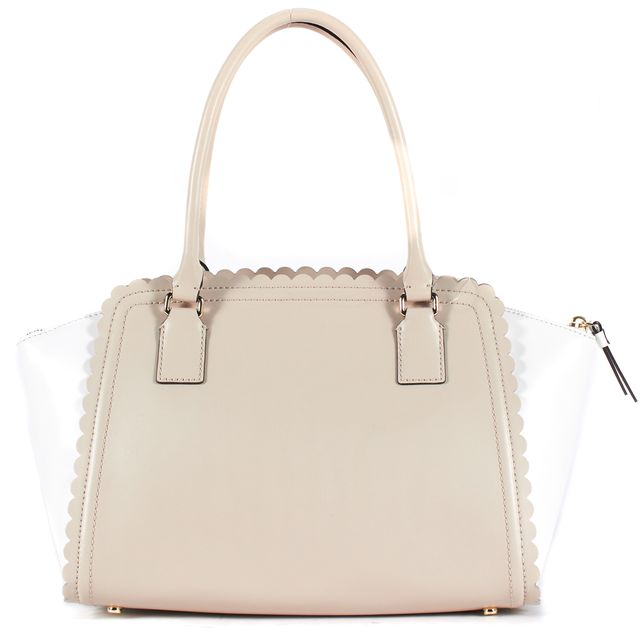 KATE SPADE Beige White Leather Lilac Road Marguerite Shoulder Bag