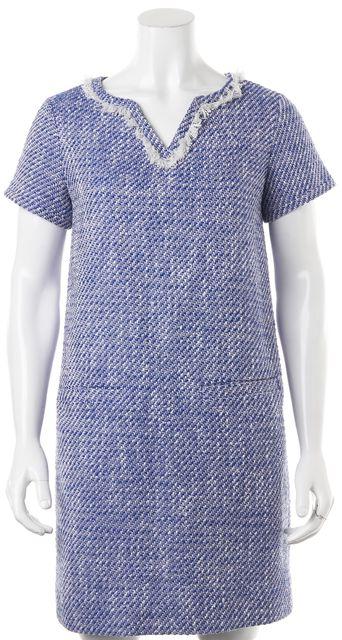 KATE SPADE Blue V-Neck Shift Dress