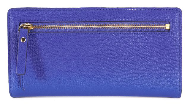 KATE SPADE Bright Lapi Blue Saffiano Leather Cedar Street Stacy Wallet
