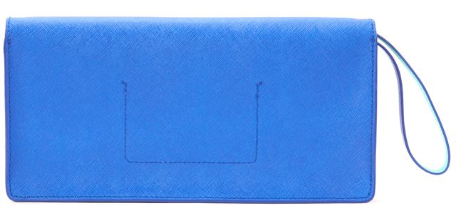 KATE SPADE Blue Bright Lapi Lily Avenue Kiki Genuine Leather Wristlet Clutch