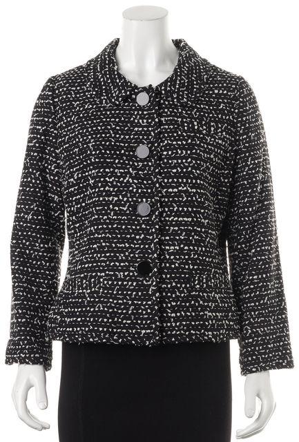 KATE SPADE Black Ivory Basic Button front Dress Jacket