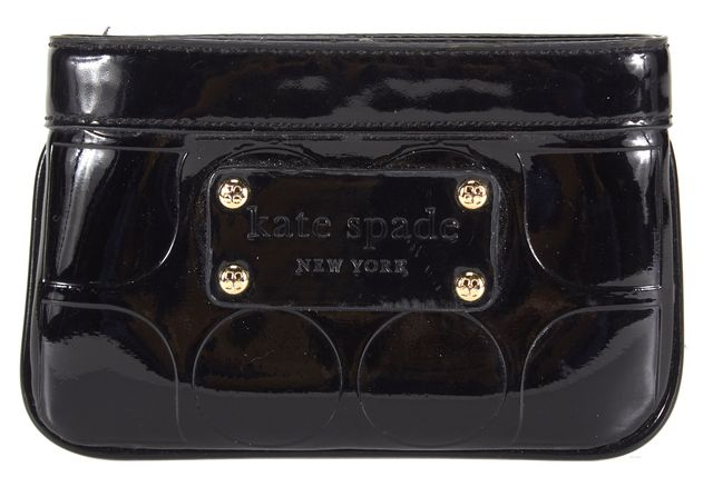 KATE SPADE Black Embossed Patent Leather Coin Purse