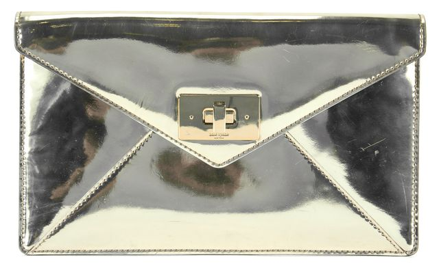 KATE SPADE Silver Patent Leather Envelope Clutch