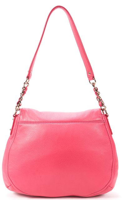 KATE SPADE Pink Genuine Leather Two Pocket Chain Link Shoulder Bag