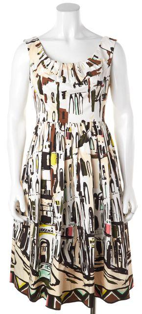 KATE SPADE Graphic Print Scoop Neck Sheath Dress