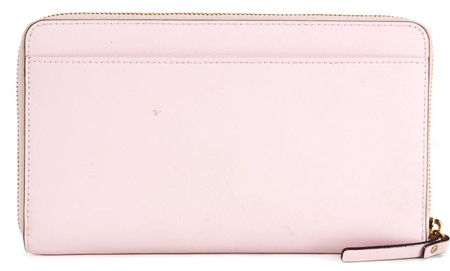 KATE SPADE Posy Pink Saffiano Leather bury Lane Large Zip Around Wallet