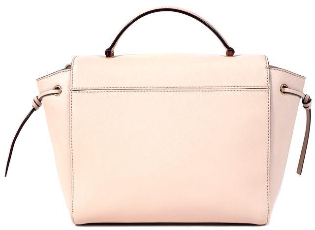 KATE SPADE Pink Genuine Leather Branded Canvas Tied Side Satchel
