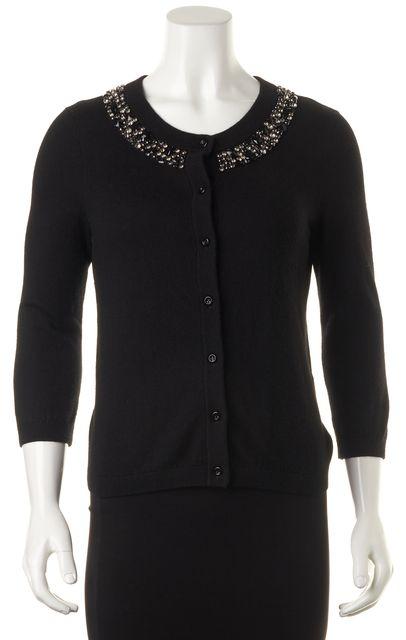 KATE SPADE Black Bedazzling Embellished Cardigan