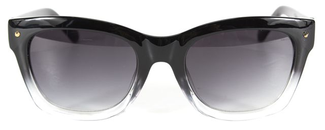 KATE SPADE Black Clear Ombre Acetate Kisha Square Sunglasses