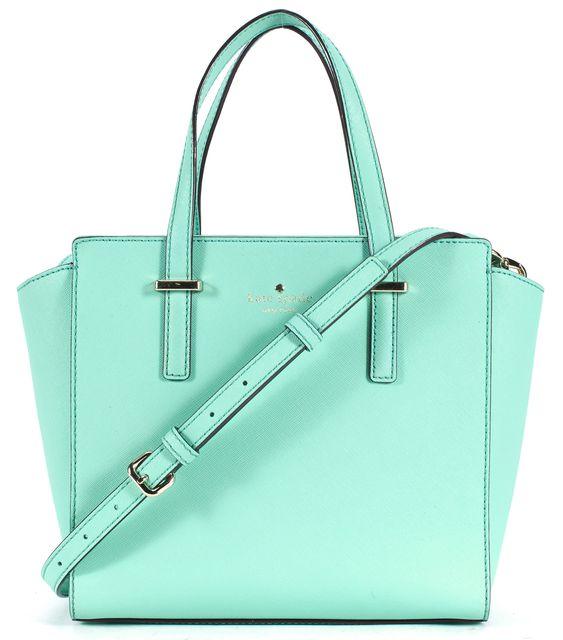 KATE SPADE Fresh Air Blue Genuine Leather Cedar Street Small Hayden Satchel Bag