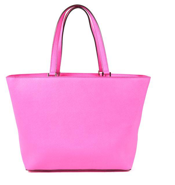 KATE SPADE Hot Pink Saffiano Leather Tote