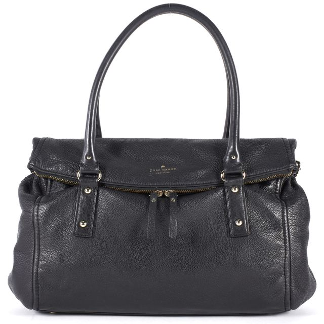 KATE SPADE Black Pebbled Leather Cobble Hill Leslie Shoulder Bag