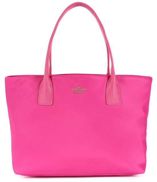 KATE SPADE Sweetheart Pink Classic Nylon Leather Trim Catie Tote